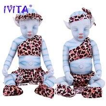 IVITA WG1806 51cm 2900g 100% Full Silicone Reborn Baby Dolls Lifelike Sleeping Baby Eyes Closed Film Toys for Children Christmas
