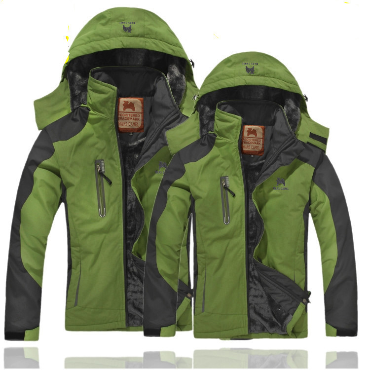 MEN'S Assault Jacket Winter Thick Plus Velvet Warm Cotton-padded Clothes Women's Breathable Waterproof Outdoor Tibet Skiing Moun