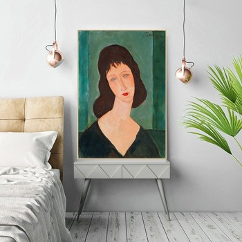 Classic Amedeo Modigliani Portrait Canvas Painting Artwork Collection Print Oil Painting Wall Art Picture Living Room Home Decor image