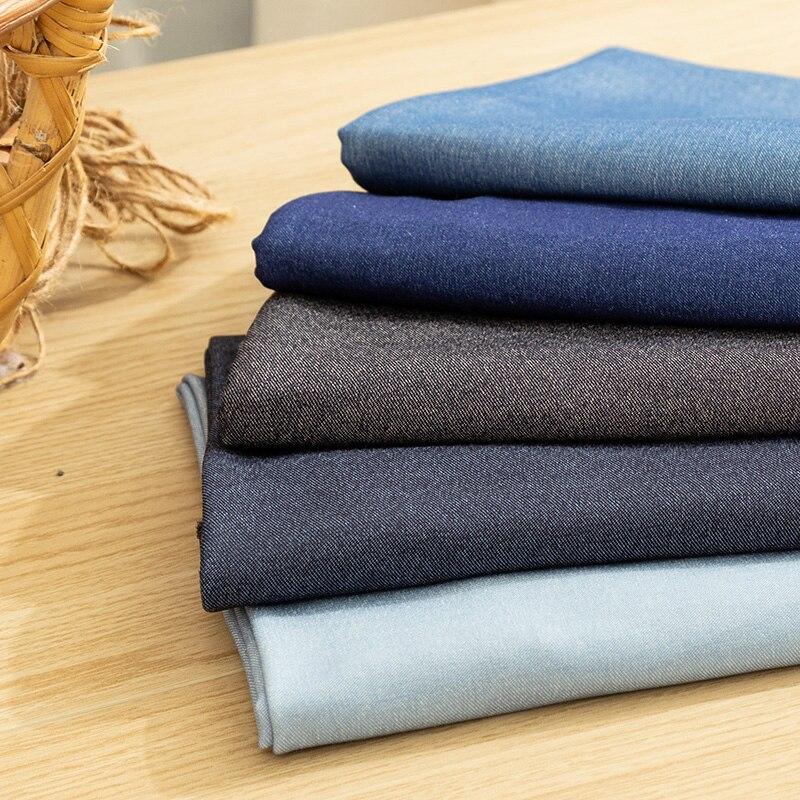 Моющаяся джинсовая ткань, хлопковая синяя ткань, летний швейный материал 45*145 см