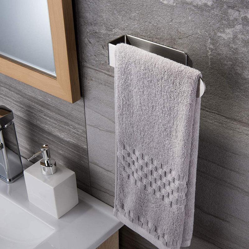 Creative Wall-mounted Stainless Steel Towel Rack Bathroom Toilet Hanger Robe Holder Home Supplies