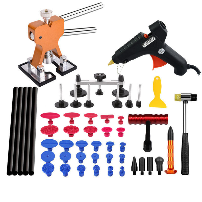 hand tools pdr tools paintless dent repair tool kit set suction cup dent mini car dent remover kit pdr tap down auto repair tool