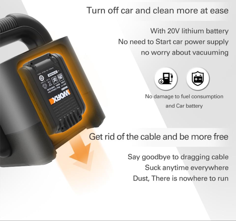 Worx Portable Car Vacuum Cleaner  AT OMIKOS