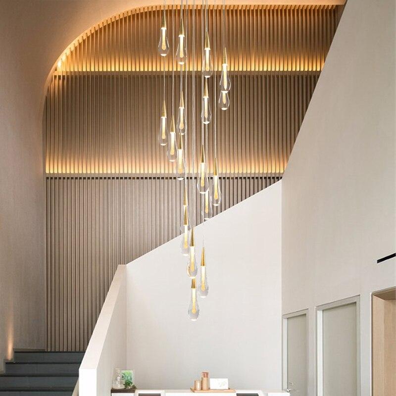 escada lustre longo simples duplex edificio villa 04