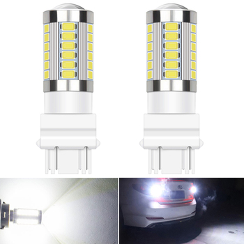 2x 3157 3156 LED Bulbs 1156 BA15S Canbus Error Free LED T20 W21W 7443 Backup Light For BMW E60 E90 E46 Car Reverse Lamp image