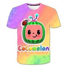 Impressão o novo 3d 3-16year crianças t-shirts dos desenhos animados adorável hip hop roupas o-pescoço menino menina topos cosplay trajes