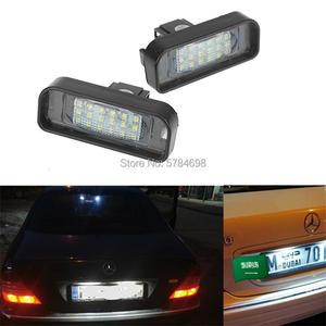 Licence Light For Mercedes Benz W220 DC 12V 18 SMD-3528 Car Number LED Lamp For Benz W220 99-05 Car License Plate Light