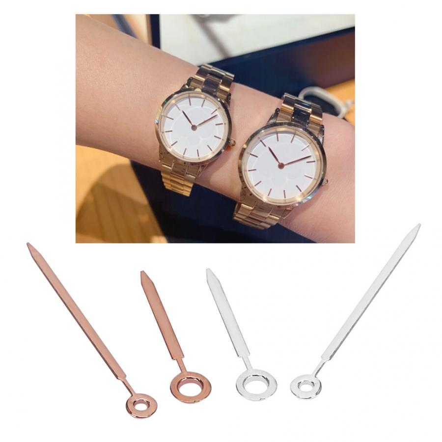 Watch Accessory Tool Kit 2Set Watch Replacement Minute Hour Hands Watches Fit for DW GL20 Movement Gold + Silver Watch Parts