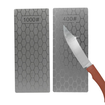 Diamond Knife Sharpening Stone 400# 1000# Knife Sharpener Ultra-thin Honeycomb Knife Sharpener Grinder Honing Tools image