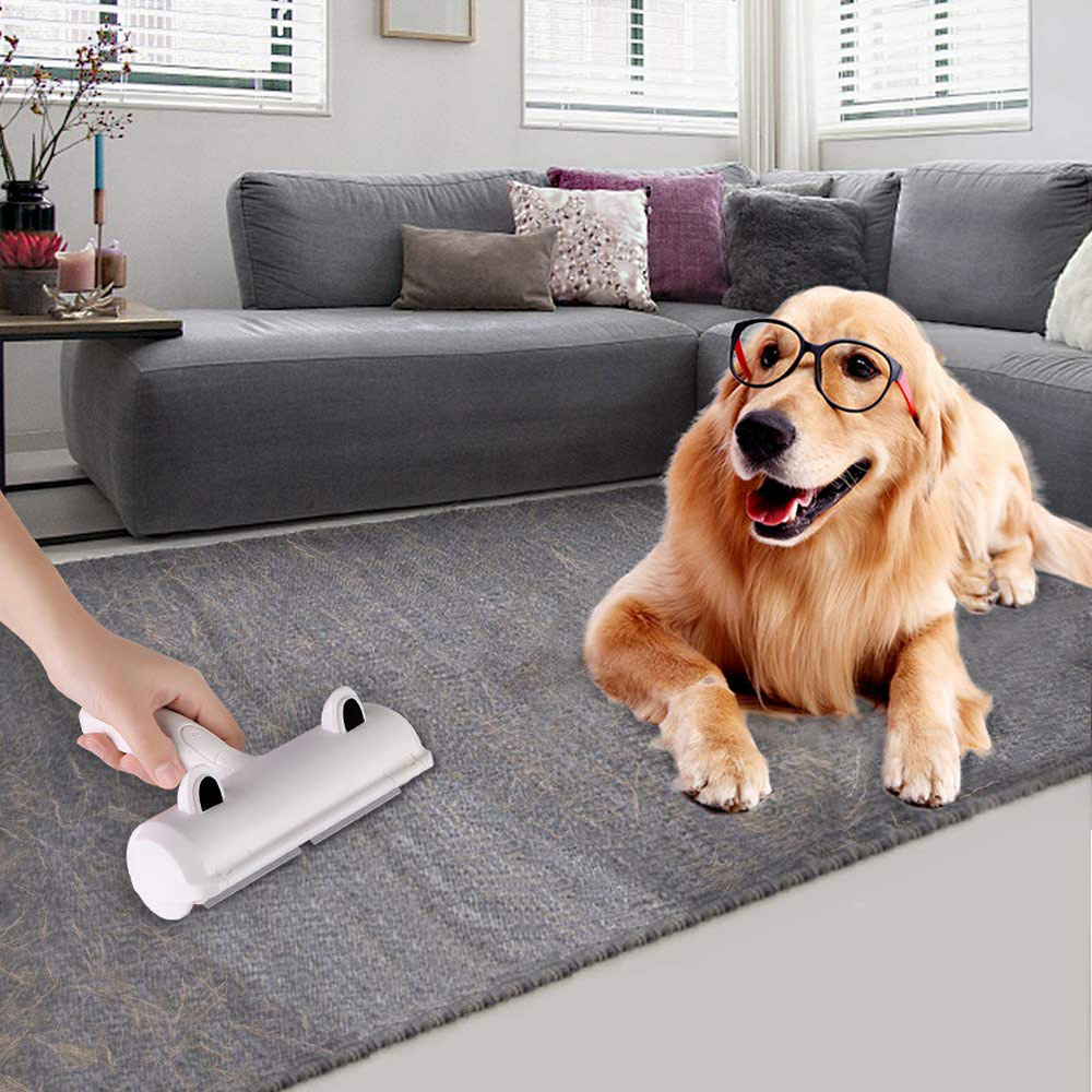 Pet Hair Remover Roller Dog Cat Hair Cleaning Brush Removing Dog Cat Hair From Furniture Carpets Clothing Self-Cleaning Lint-2