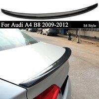 아우디 A4 B8 2009 2010 2011 2012 용 카본 리어 트렁크 스포일러 부츠 윙