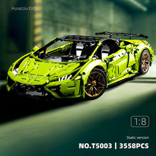 New MOC-72491 RC Lamborghinied Huracan Evo Spyder Model Building Blocks High-Tech Super Sport Car Bricks Toys for Kids Gifts