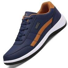 Deri erkek ayakkabısı ayakkabı trendi rahat ayakkabı İtalyan nefes eğlence erkek Sneakers kaymaz ayakkabı erkekler vulkanize ayakkabı