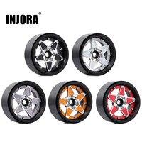 "INJORA 4PCS 2.2"" Metal Beadlock Five-pointed Star Wheel Hub Rim for RC Crawler Car Traxxas TRX4 TRX6 Axial SCX10 RR10 Wraith 1"