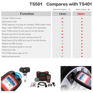 Image 5 - Autel TS501/TS508K TPMS Service tool S tire pressure monitoring system Reset tool Activate programing sensor and Read  DTC code