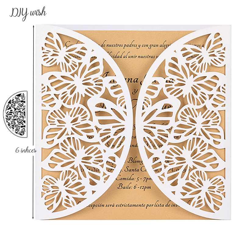 Butterfly Border <font><b>Dies</b></font> <font><b>Metal</b></font> <font><b>Cutting</b></font> <font><b>Dies</b></font> <font><b>New</b></font> <font><b>2019</b></font> for Scrapbooking Wedding Invitations Birthday Greeting Cards Making image
