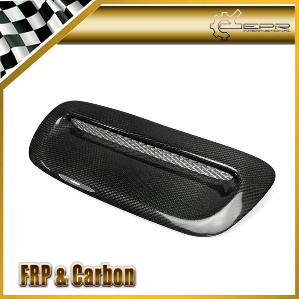 For <font><b>Mini</b></font> Cooper S MK1 2001-2006 <font><b>R53</b></font> <font><b>Carbon</b></font> Fiber Hood Scoop Trim For <font><b>Mini</b></font> <font><b>R53</b></font> Glossy <font><b>Carbon</b></font> Hood Vent image