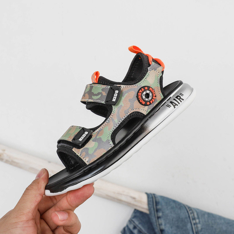 Children's Sandals 2020 Summer Boys And Girls Fashion New Soft Bottom Sandals Sports Cool Trend Camouflage Vacation Beach Sandal