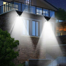 100 LED Solar Powered Light Outdoor Motion Sensor Wall Garden Lamp 3 Modes(China)