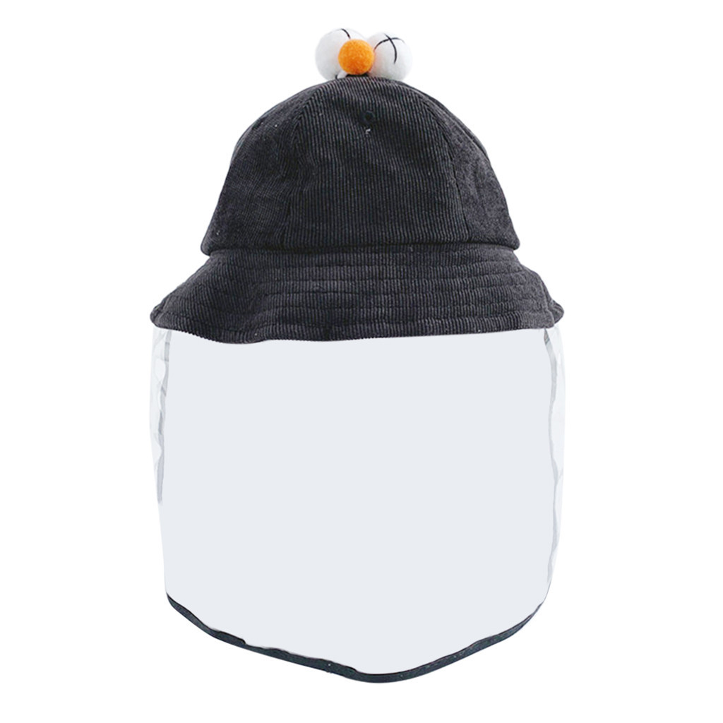 Anti-spitting Protective Hat Child Casual Solid Anti-spitting Hat Dustproof Cover Kids Boys Girls Fisherman Cap Hat #B