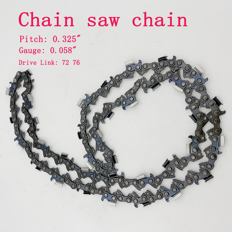 5pcs 18/20 Inch 72/76 Drive Link Chainsaw Saw Chain Blade Wood Cutting Chainsaw Parts Chainsaw Mill Chain For Cutting Lumbers