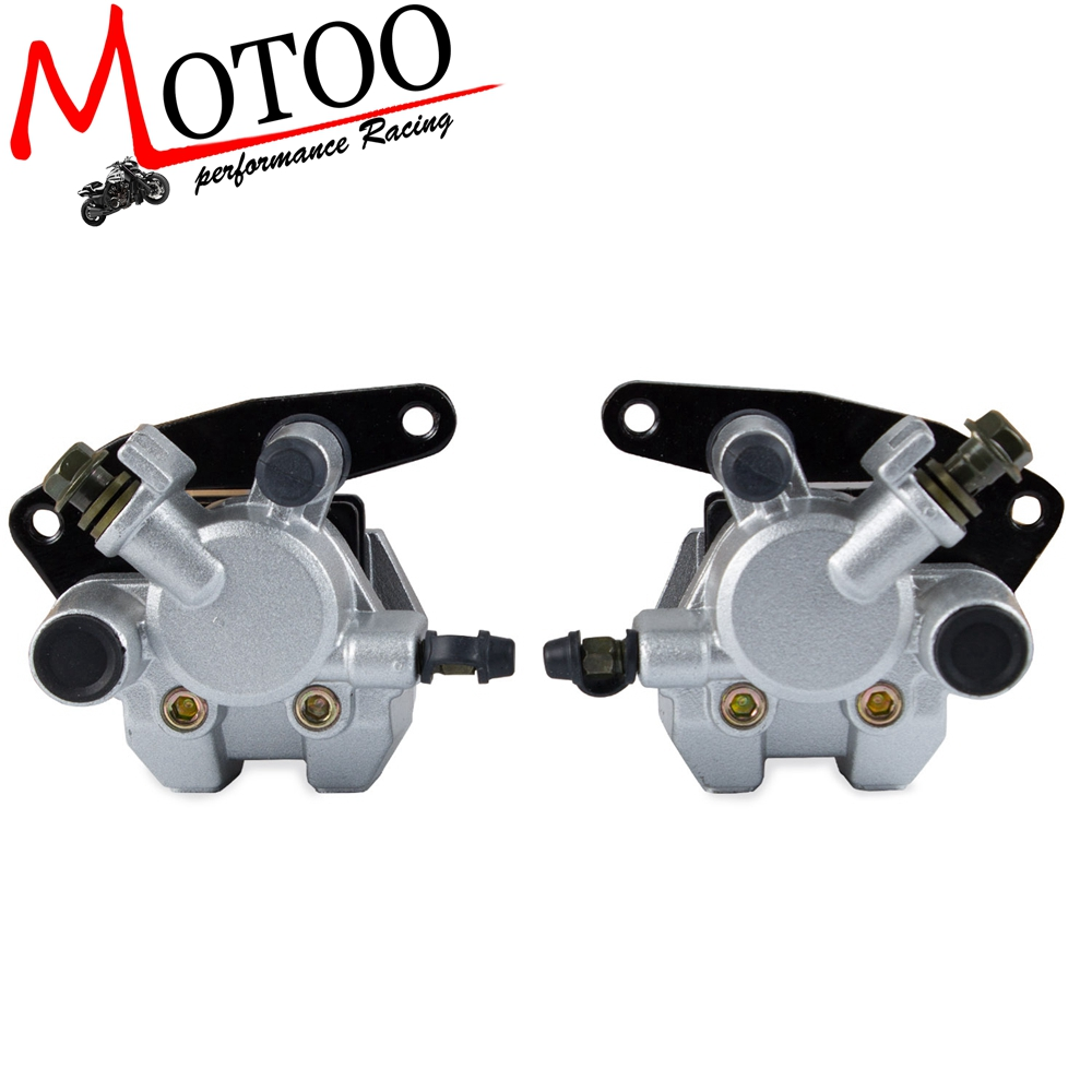 Front Brake Caliper Set Right &Left With Pads for YFM250 YFM350 YFM660 Honda TRX250EX TRX300EX TRX400EX TRX420 Suzuki Quadsport