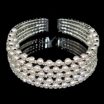 Crystal Pearl Layer Bracelet  4
