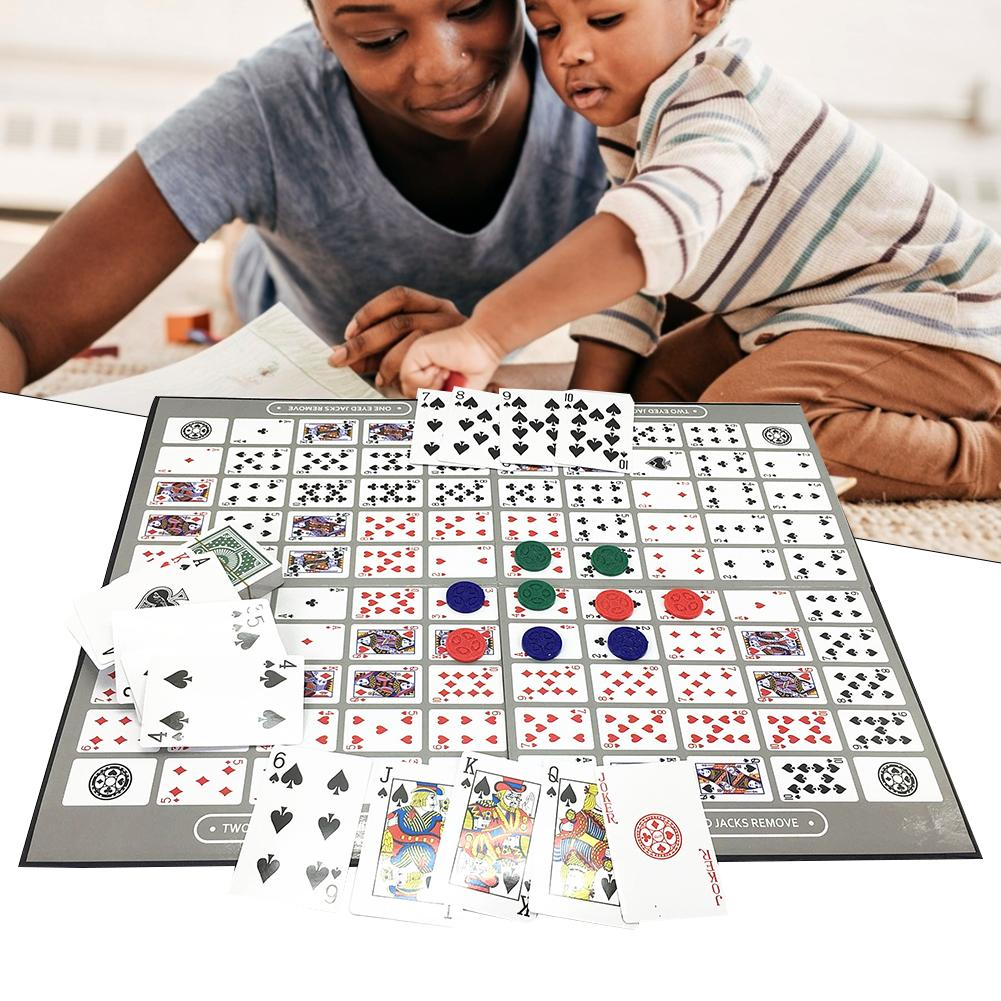 Table Game Pattern Big Chess Board Game English And Arabic Sequence Game Chess Family Game Toy 2-12 Persons Foldable 50*38CM