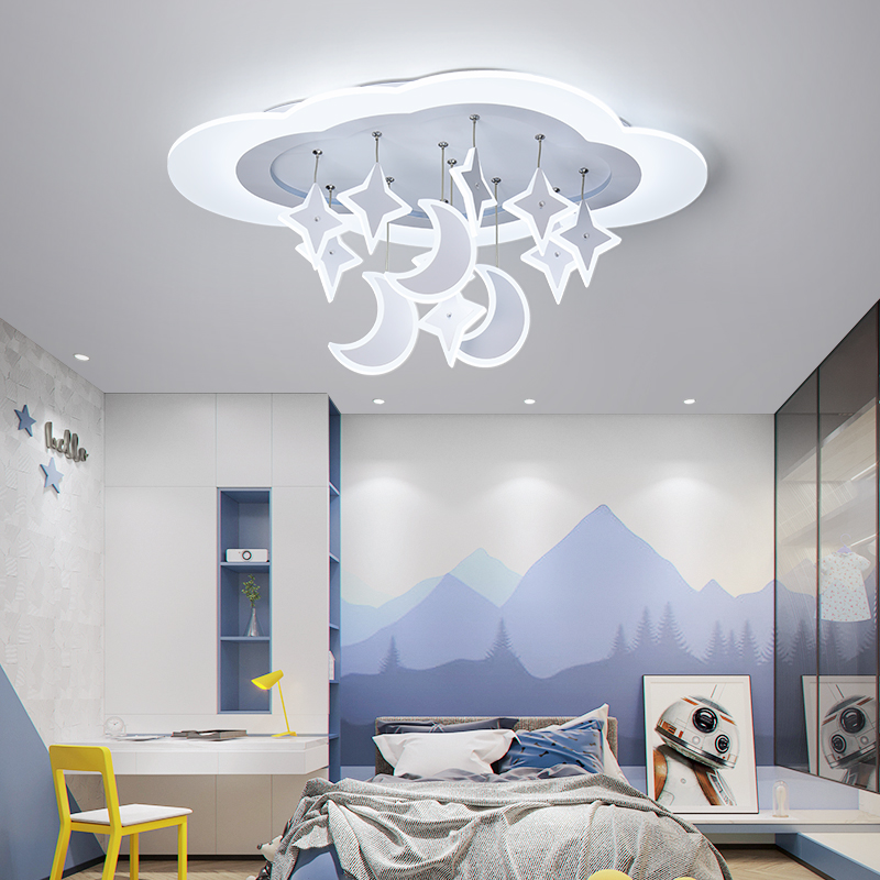 Children's Lamp Boy Bedroom Lamp Simple Modern Girl Room Personality Creative Rudder Led Cartoon Ceiling Lamp