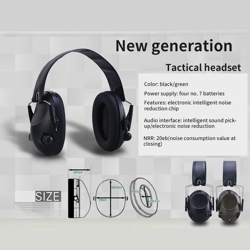 Military Earmuff Headphone Noise Reduction Lightweight Foldable Anti-Noise Tactical Headphone Outdoor Hunting Shooting Equipment