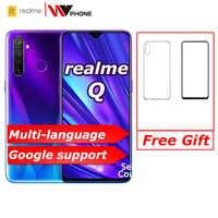 Realme Q globale nicht relme 5 pro 6,3 zoll Moblie Telefon Snapdragon 712AIE Octa Core 48MP Handy VOOC 20W schnelle Ladegerät