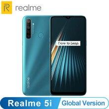 Version mondiale OPPO Realme 5i 4GB 64GB Snapdragon 665 AIE 12MP Quad caméra 6.5 Smartphone 1600x720 5000mAh 4G téléphone portable