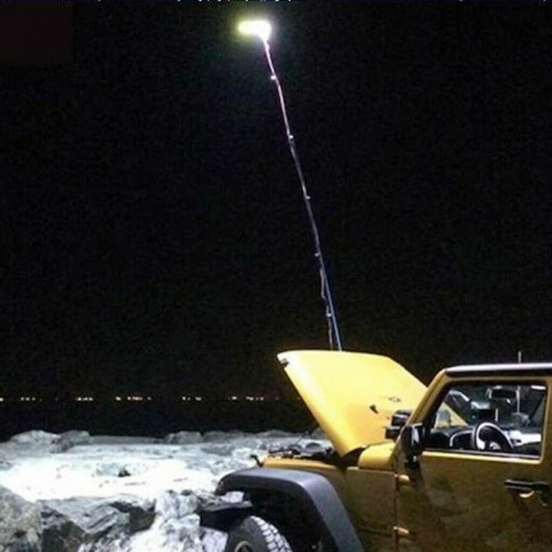 espiga telescopica led spotlight pesca acampamento ao 03