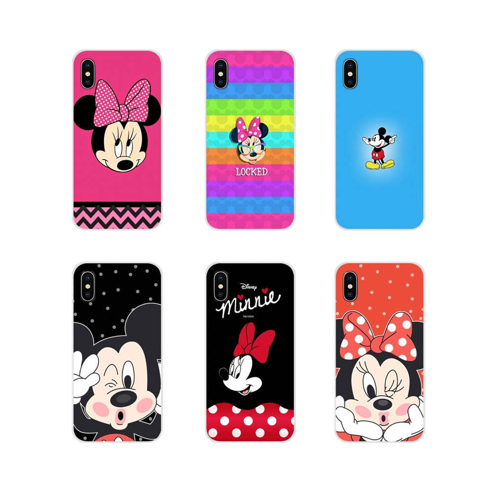 For LG G3 G4 Mini G5 G6 G7 Q6 Q7 Q8 Q9 V10 V20 V30 X Power 2 3 K10 K4 K8 2017 Accessories Phone Shell Covers Cute Mickey Minnie