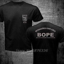Novo brasil swat bope forças especiais polícia K-9 cão canino canil unidade camiseta engraçado algodão casual topo t men impresso t camisa