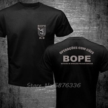 T-Shirt Funny Swat Police Canine Special Forces Bope K-9 Top-Tee Cotton Print Casual