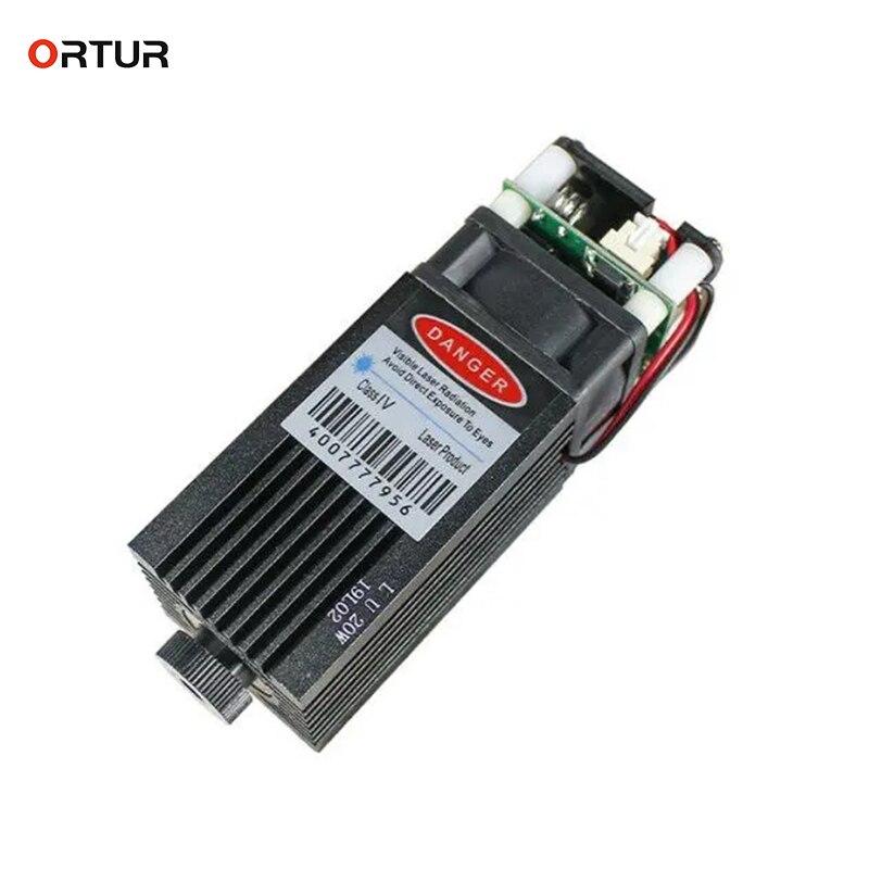ORTUR Laser Head 3d printer part 15W Laser Module Adjustable PWM Mode Overvoltage Protection for Des