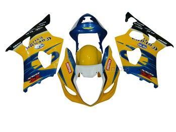 Body Fairing Kit for Suzuki GSXR1000 K3 2003 2004 Injection Yellow Blue Bodywork ALSTARE Edition