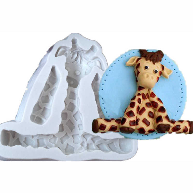 3D Animal Form Lion Giraffe Rabbit Form Fondant Cake Decoration Silicone Molds Soap Kitchen Cake Decorating Tools For Resin