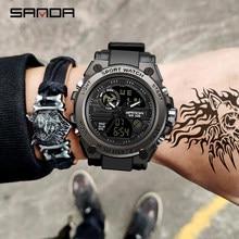 SANDA 739 sport hommes montres haut de gamme de luxe militaire montre à Quartz hommes étanche S choc mâle horloge relogio masculino 2021