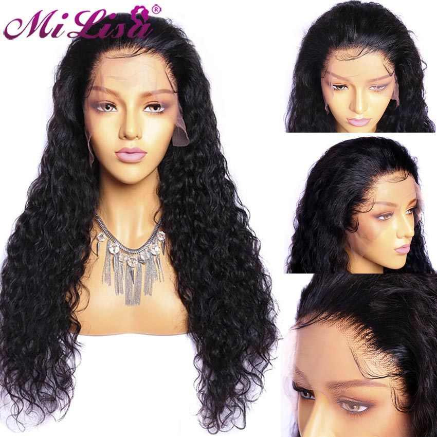 Peluca de onda de agua 13x6 pelucas de cabello humano Frontal de encaje para mujeres negras Pre desplumadas con pelo de bebé brasileño 13x4 pelucas frontales de encaje Remy