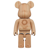 Street Art Style 400% Hot Sale Bear Brick Tokyo 2020 Wood Action Figure Toy Collection Model Decoration