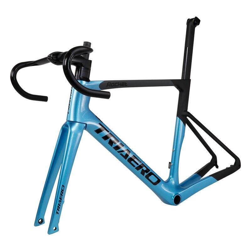 Super Light Carbon Road Disc Brake Bike Frame Blue Painting