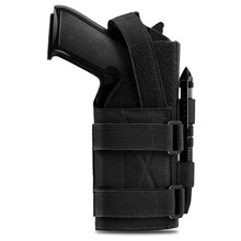 Funda táctica para pistola de mano derecha, bolsa Molle para pistola Beretta Revolver Glock Airsoft, bolsa para escopeta