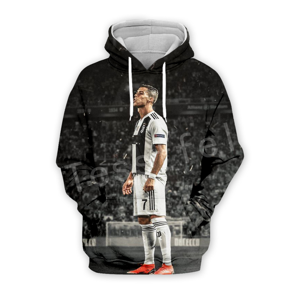 Tessffel Cristiano Ronaldo Athletes Tracksuit 3DfullPrint Hoodie/Sweatshirt/Jacket/Mens Womens Hiphop Fit Casual Style-9
