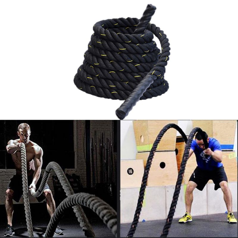 Heavy Jump Rope Skipping Rope Workout Battle Ropes For Men Women Total Body Workouts Power Training Improve Strength Building