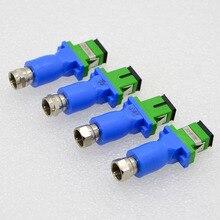цена на 10pcs New FC/APC Passive Optical Receiver Photoelectric Converter CATV FTTH Optical Fiber home Receiver Special Wholesale