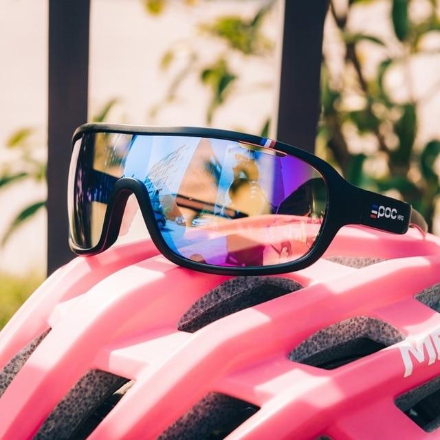E poc novo estilo ciclismo esportes ao ar livre óculos 4 lente óculos de bicicleta de escalada de montanha óculos de proteção para os olhos 5