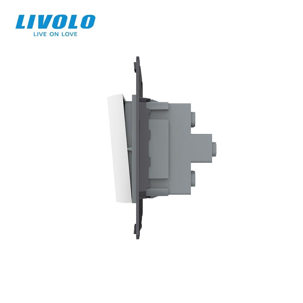 cheapest Livolo Luxury 7colors Crystal Glass Switch Panel 364mm 80mm EU standardQuintuple Glass Panel For Wall Socket C7-5SR-11