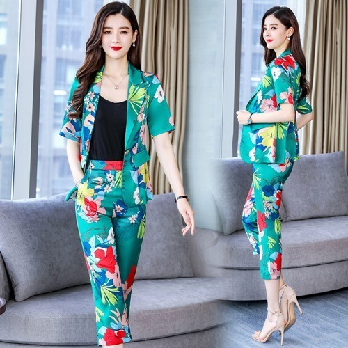 Goodman Sophie Dee Million Flower Red Small Suit WOMEN'S Suit Summer Fashion 2019 New Style Business Elegant Ol Western Style Pr